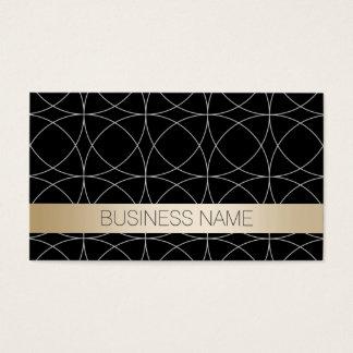 Albañilería de lujo del negro y del oro tarjeta de negocios