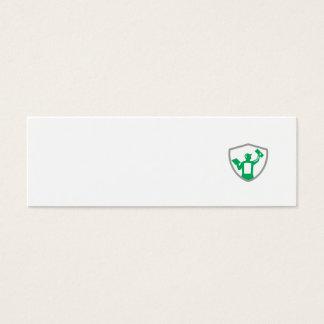 Albañilería del yesero que lleva a cabo el escudo tarjeta de visita mini