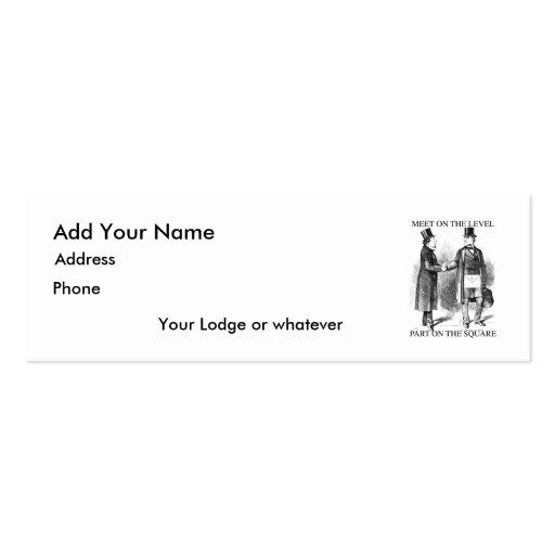 Albañiles que encuentran la tarjeta flaca tarjetas de negocios