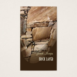 Albañiles, tarjetas de visita de piedra de los