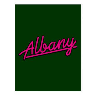 Albany en magenta tarjetas postales
