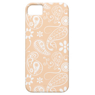 Albaricoque ligero Paisley; Floral iPhone 5 Case-Mate Carcasas