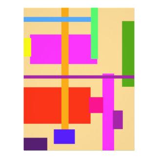 Albaricoque linear de la belleza folleto 21,6 x 28 cm