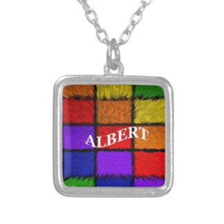 ALBERT (nombres masculinos) Colgante Cuadrado