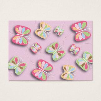 Alboroto bonito de las mariposas por negocio que tarjeta de negocios