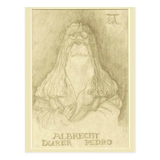 """Albrecht postal de Durer Pedro"""