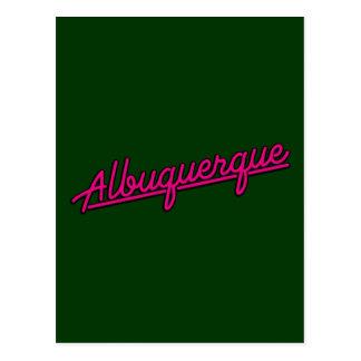 Albuquerque en magenta postal