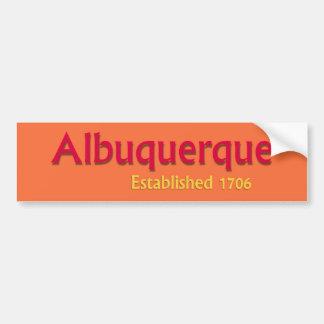 Albuquerque estableció a la pegatina para el