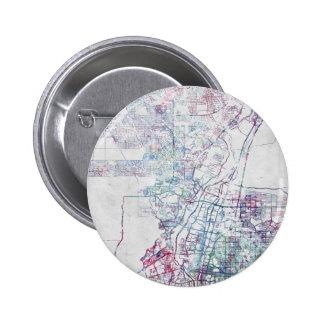 Albuquerque map painting chapa redonda de 5 cm