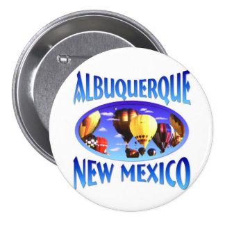 Albuquerque New México Chapa Redonda De 7 Cm