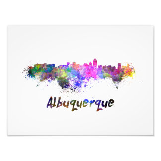Albuquerque skyline in watercolor foto