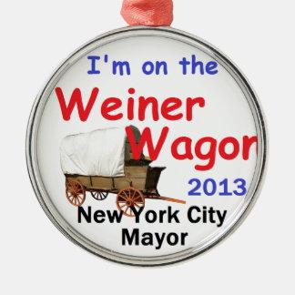Alcalde 2013 de Weiner Adorno Navideño Redondo De Metal