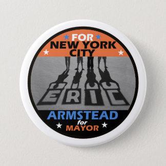 Alcalde 2017 de Eric Armstaed NYC Chapa Redonda De 7 Cm