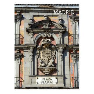 Alcalde de la plaza, postal de Madrid