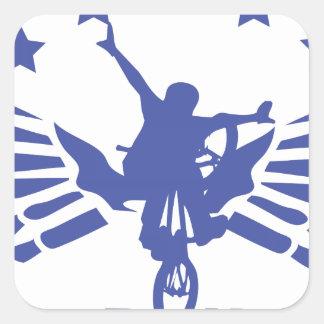 Alcance BMX Calcomanías Cuadradas Personalizadas