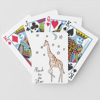 alcance de la jirafa para la estrella baraja de cartas bicycle