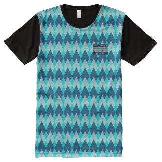 Alcance los niños azules del diamante/la camiseta