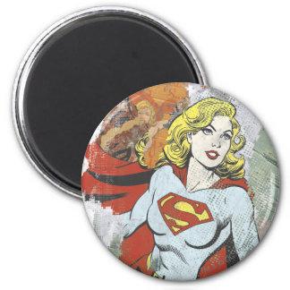 Alcaparras cómicas 2 de Supergirl Imán Redondo 5 Cm