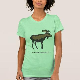 alce-entendido camiseta