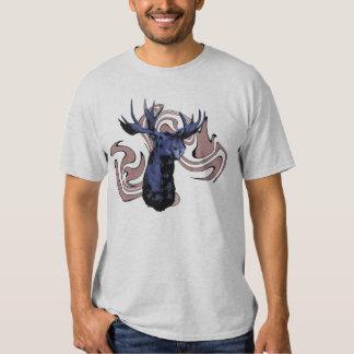 Alces azules camisetas