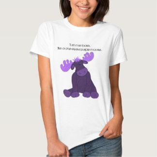 Alces de la púrpura de Hanson Camisetas