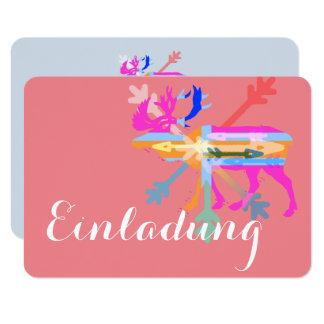 Alces de las invitaciones invitación 8,9 x 12,7 cm
