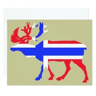 Alces de Norwege Invitación 10,8 X 13,9 Cm