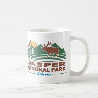 Alces del parque nacional de jaspe taza de café