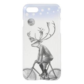 Alces en bicicleta del vintage del montar a funda para iPhone 8/7