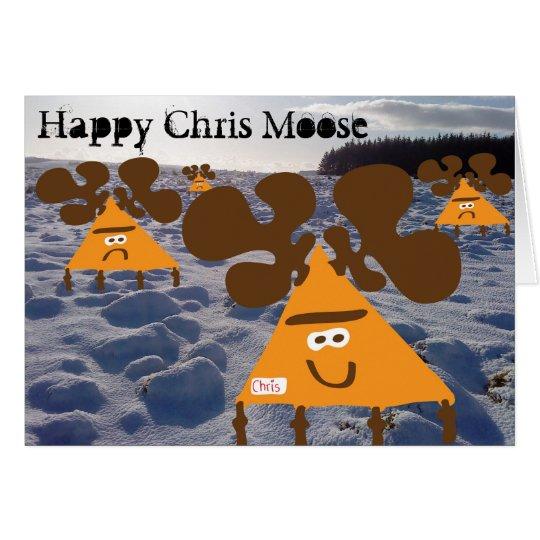Alces felices de Chris Tarjeta De Felicitación