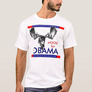 Alces para Obama Camiseta
