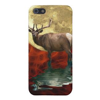 Alces salvajes, Wapiti, fauna de los ciervos iPhone 5 Funda