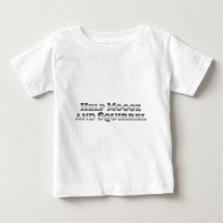 Alces y ardilla de la ayuda - básicos camiseta de bebé