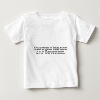 Alces y ardilla de la captura - básicos camiseta de bebé
