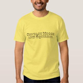 Alces y ardilla del contacto - básicos camisetas