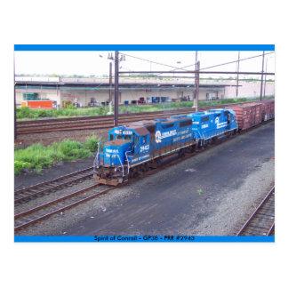 Alcohol de Conrail - GP38 - PRR #2943 en pintura Postal