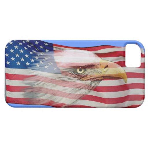 Alcohol de Eagle calvo y caja patriótica del teléf iPhone 5 Case-Mate Protectores