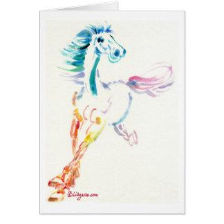 Alcohol del caballo salvaje - tarjeta de la
