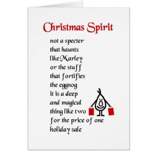 Alcohol del navidad - un poema divertido del tarjeta de felicitación