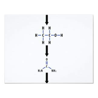 alcohol químico al icono de la urea invitación 10,8 x 13,9 cm