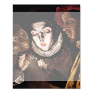 Alegoría con el muchacho que enciende la vela de folleto 11,4 x 14,2 cm