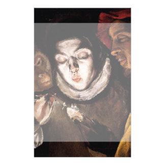 Alegoría con el muchacho que enciende la vela de folleto 14 x 21,6 cm