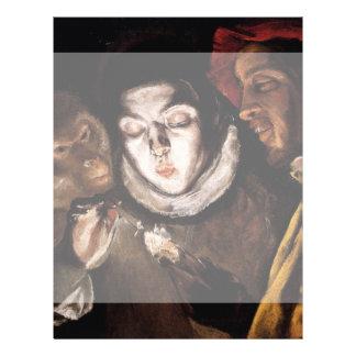 Alegoría con el muchacho que enciende la vela de folleto 21,6 x 28 cm