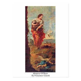 Alegoría de la esperanza de Francesco Guardi Tarjeta Postal