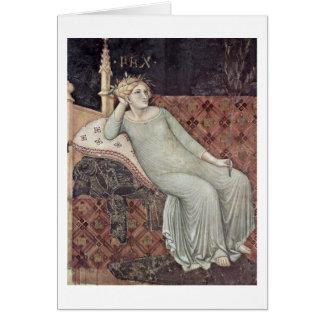 Alegoría de la paz de Ambrogio Lorenzetti Tarjeta De Felicitación