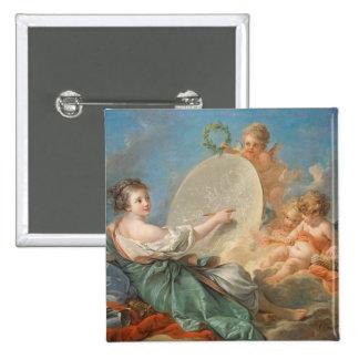 Alegoría de la pintura, 1765 (aceite en lona) chapa cuadrada 5 cm