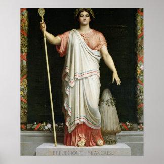 Alegoría de la república, 1848 posters