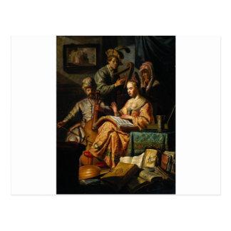 Alegoría musical de Rembrandt Postal