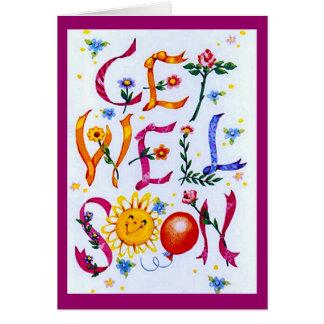 Alegre consiga bien tarjeta de felicitación