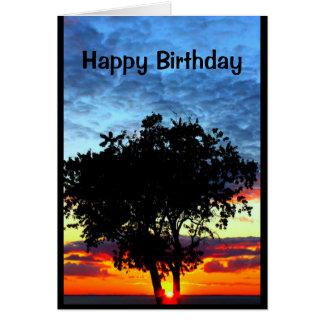 Alegre pertenecemos al mismo árbol de familia tarjeta de felicitación
